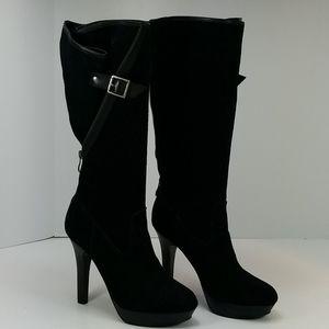 Jessica Simpson JP-Caron Black Suede Platform Boot